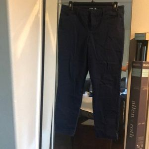 Dark navy cropped trousers
